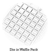 Bare die supplied in waffle pack tray